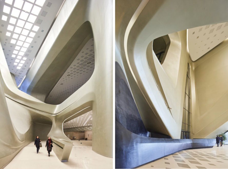 interior design of the Nanjing International Youth Cultural Centre