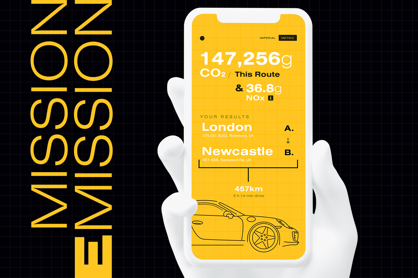 This calculator tracks the carbon emissions of your travels