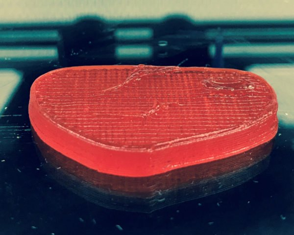 red steak made from a 3D printer
