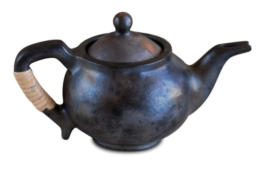 handmade dark brown teapot