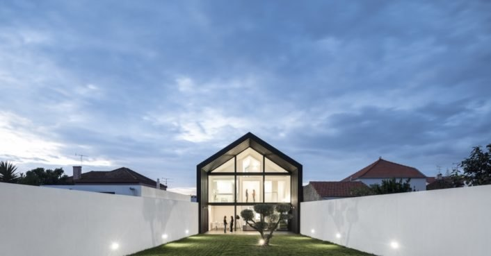 This light-filled home and office in Portugal blurs indoors and out