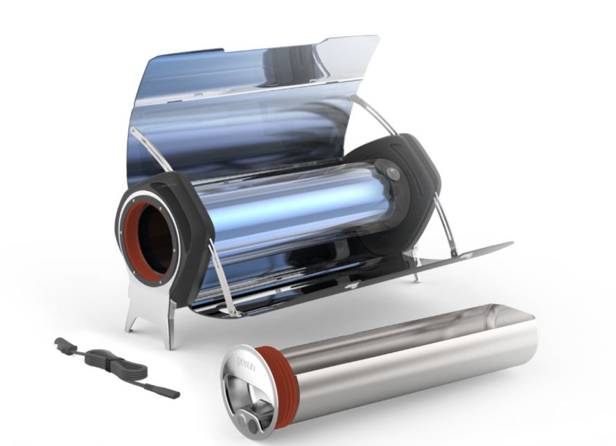 metal solar cooker with tube system
