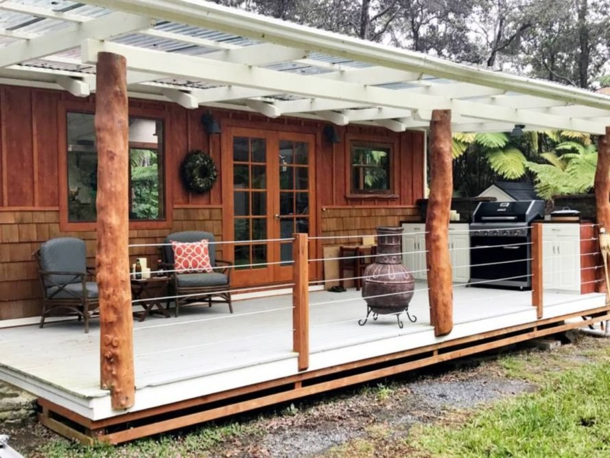 tiny home with large open deck
