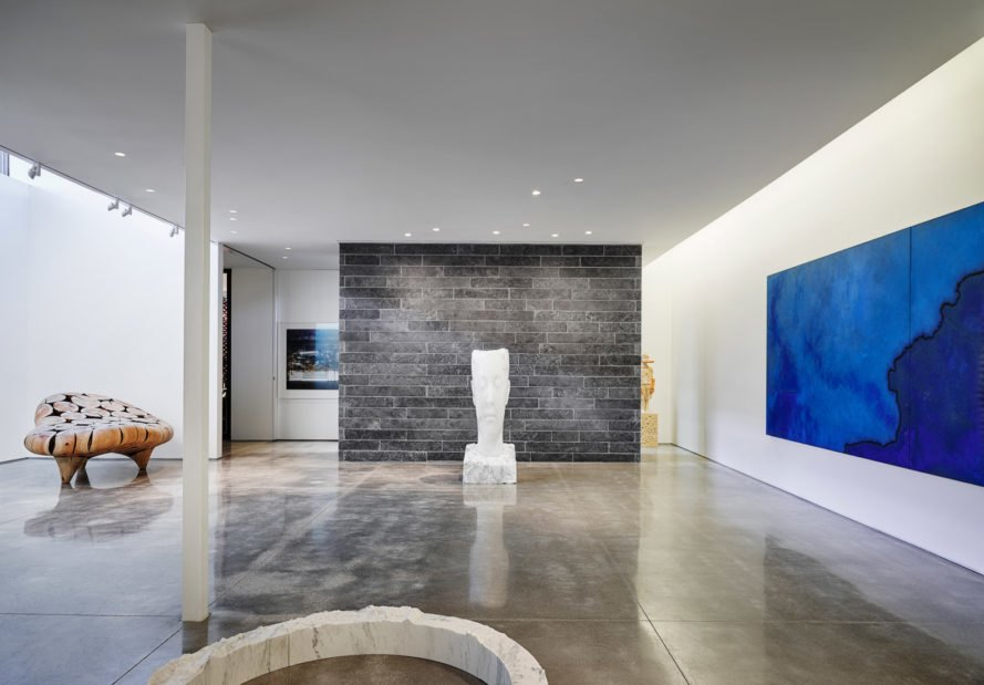 interior space of the home with art gallery