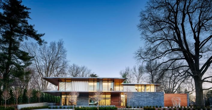 This modern home built to house a renowned art collection is a work of art in itself