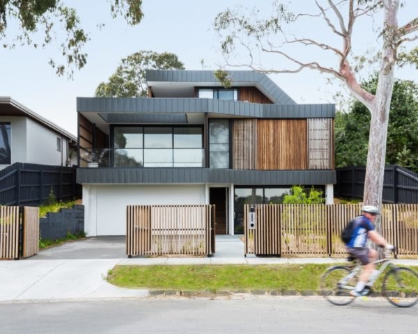 black and timber home
