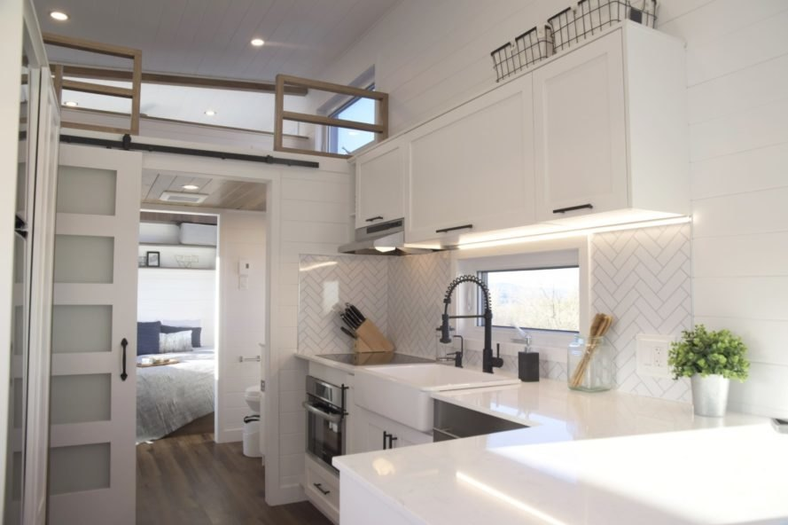 all-white interior kitchen