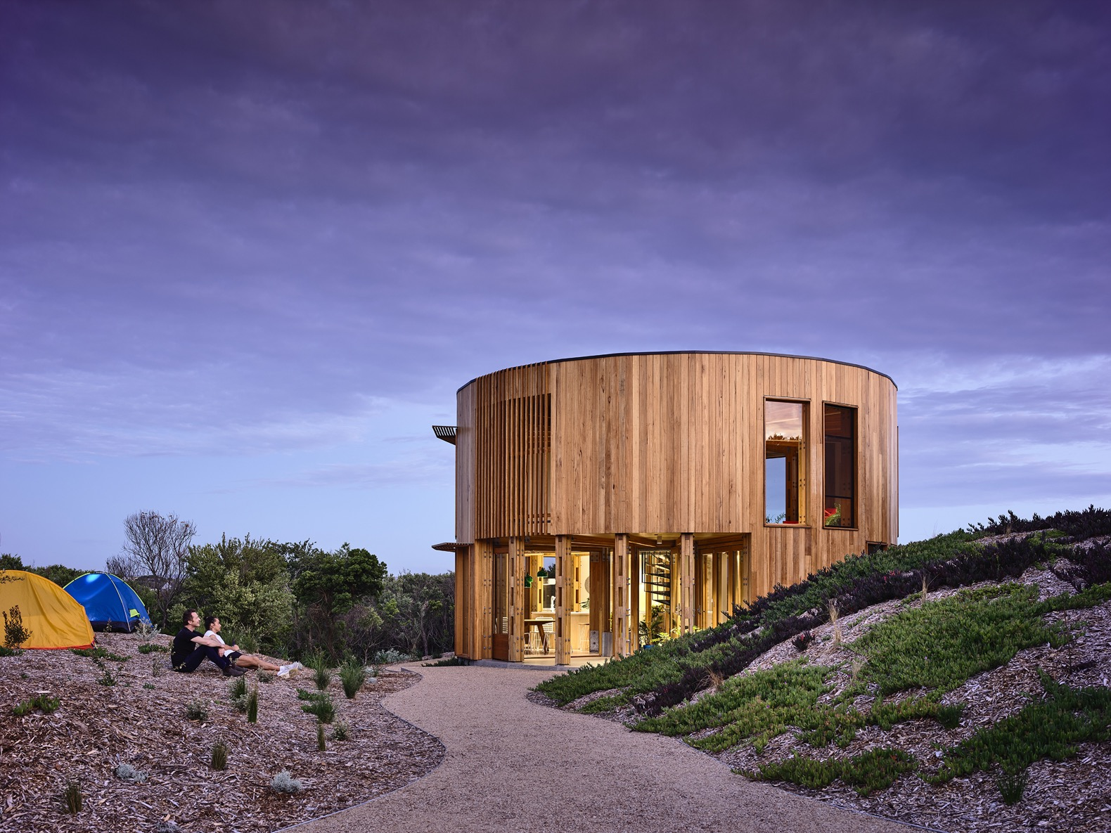 Circular Solar Powered Beach House Is A Sustainable Holiday Retreat