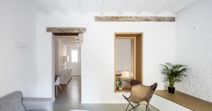 photo image Historic apartment is rehabbed into a bright and modern home in Barcelona