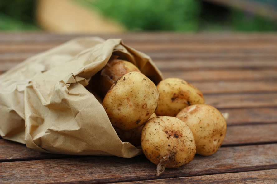 potatoes in a bag