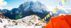 tents at the Mount Everest base camp site