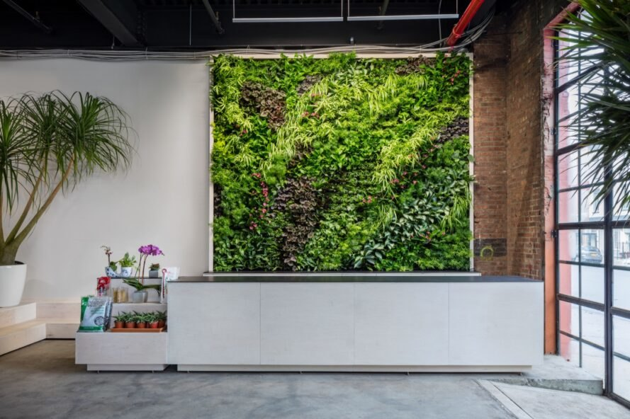 large green wall