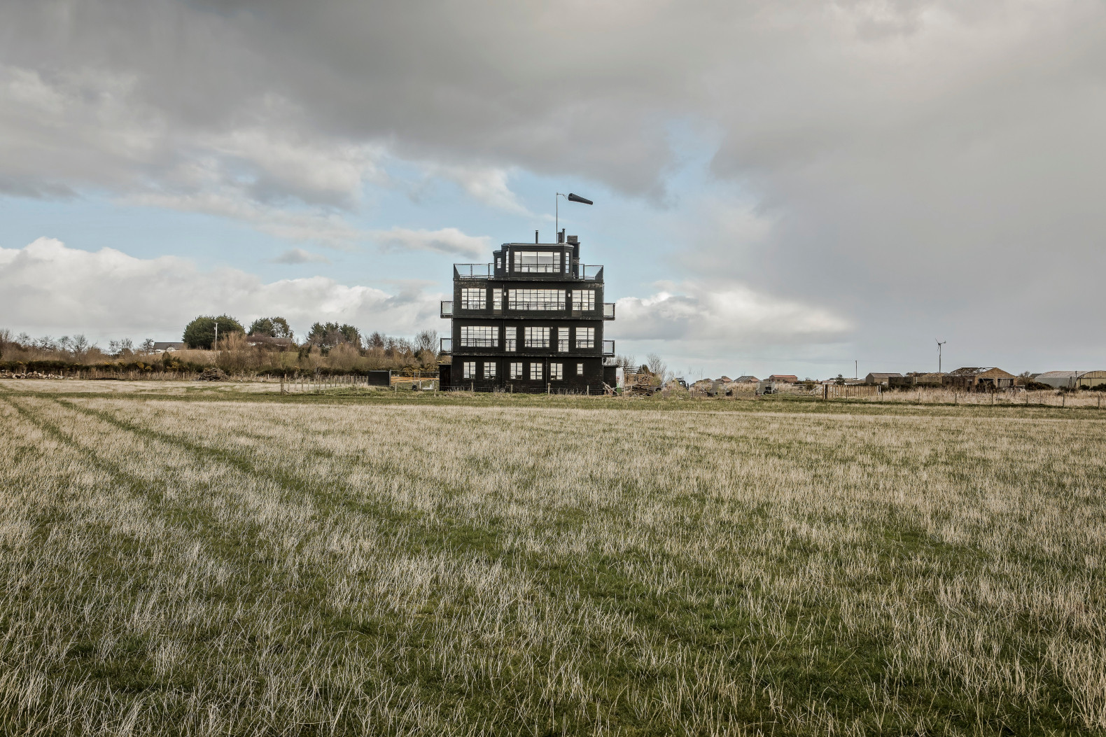 Sleep in this restored WWII air control tower full of historic charm