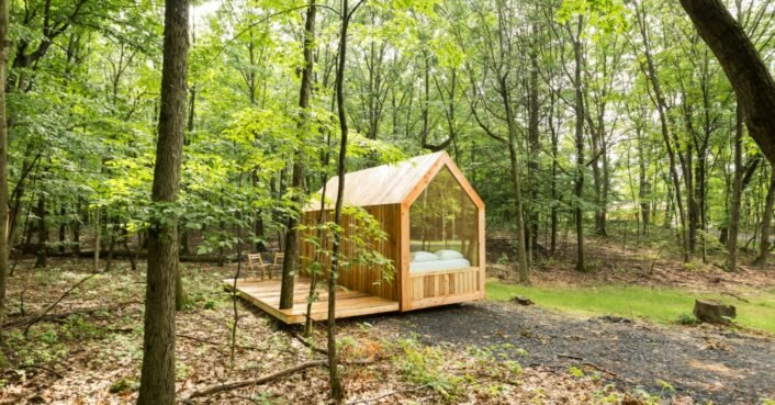These sustainable tiny cabins offer a serene escape in nature just 2 hours from NYC