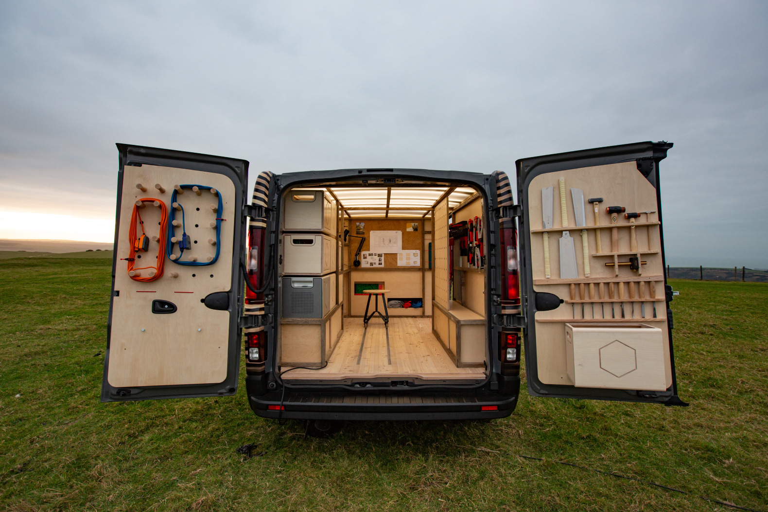 Nissan unveils incredible solar-powered mobile workshop for woodworkers