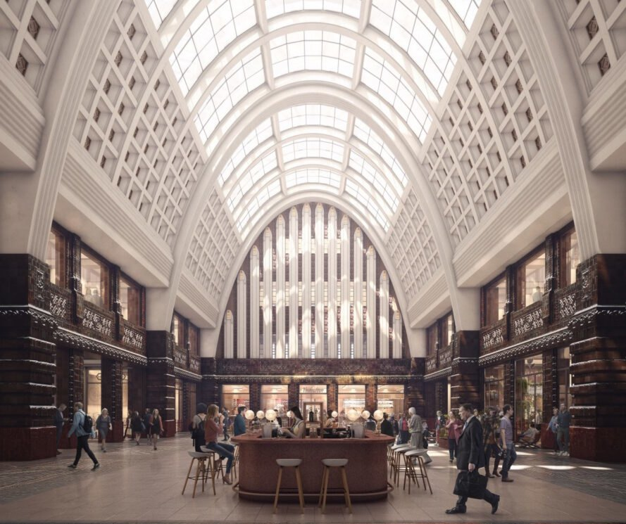 interior of how redesigned post office will look