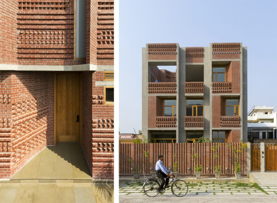 brick housing development in India