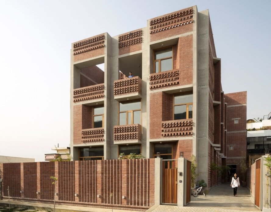Breezy Brick Home In India Houses Multiple Generations Under One Roof
