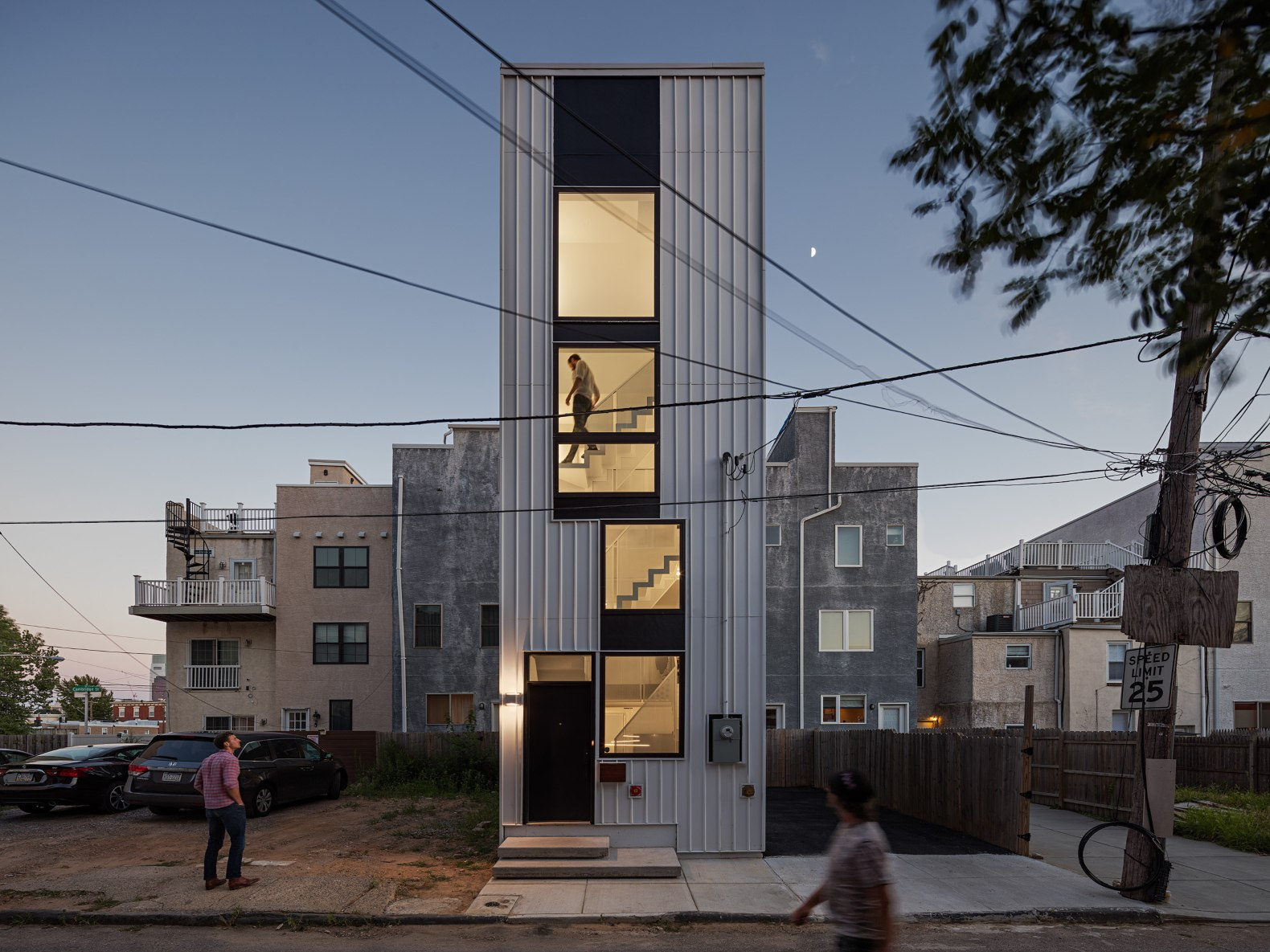 Energy-efficient 'tiny tower' home is organized like a full-scale skyscraper