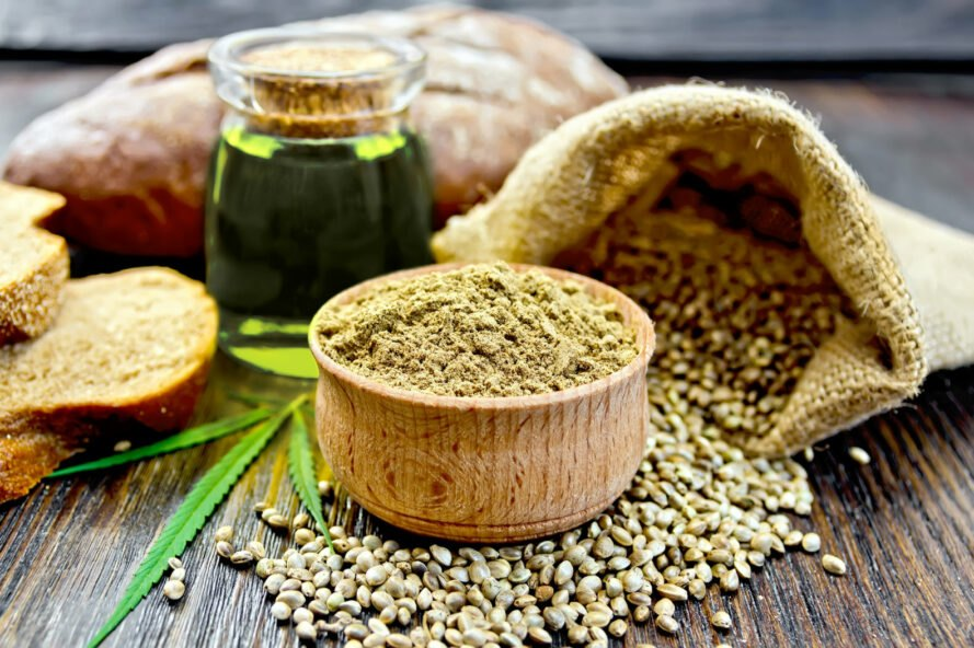 Hemp oils and hemp flour