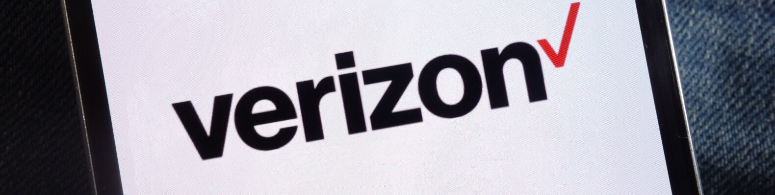 verizon logo on a phone screen