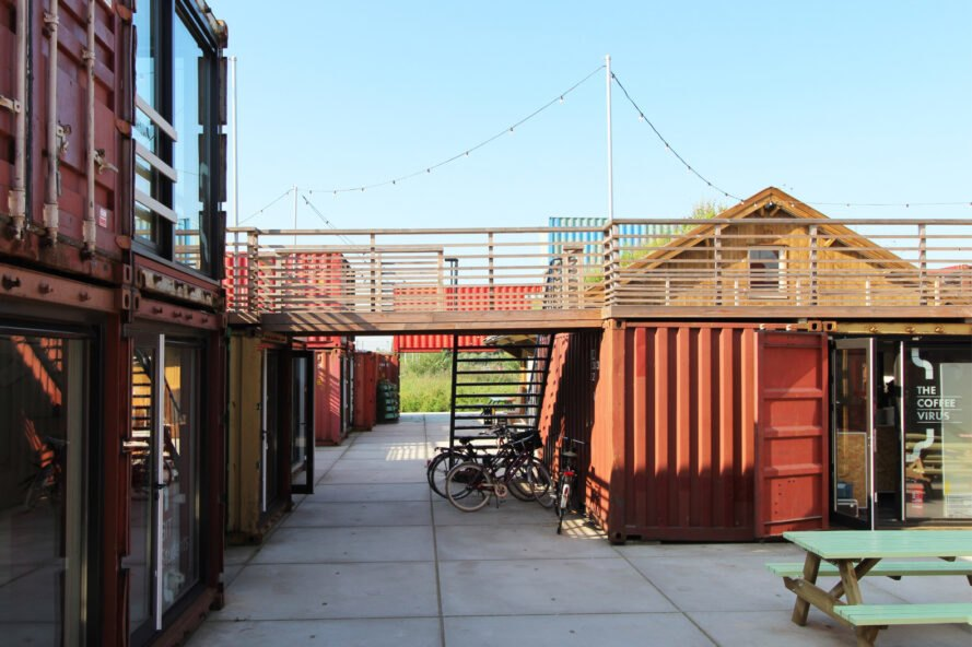 shipping containers turned into a hotel