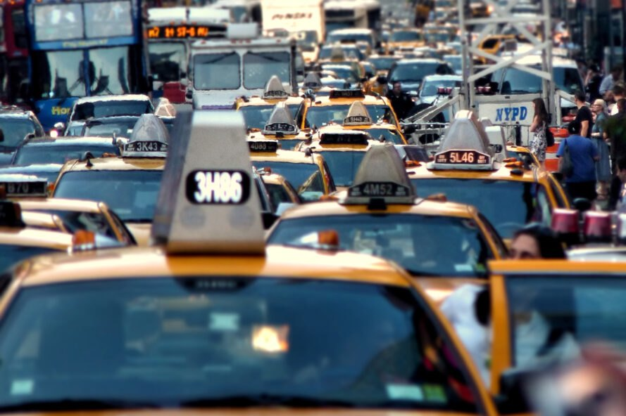 view of traffic in New York City