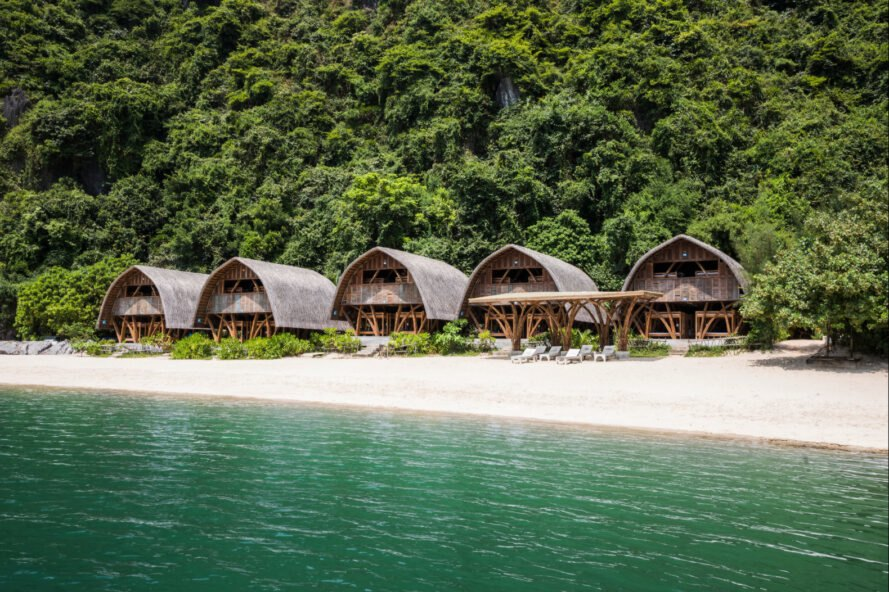 This Tiny Bamboo Hut Resort Is Built On A Remote Vietnamese