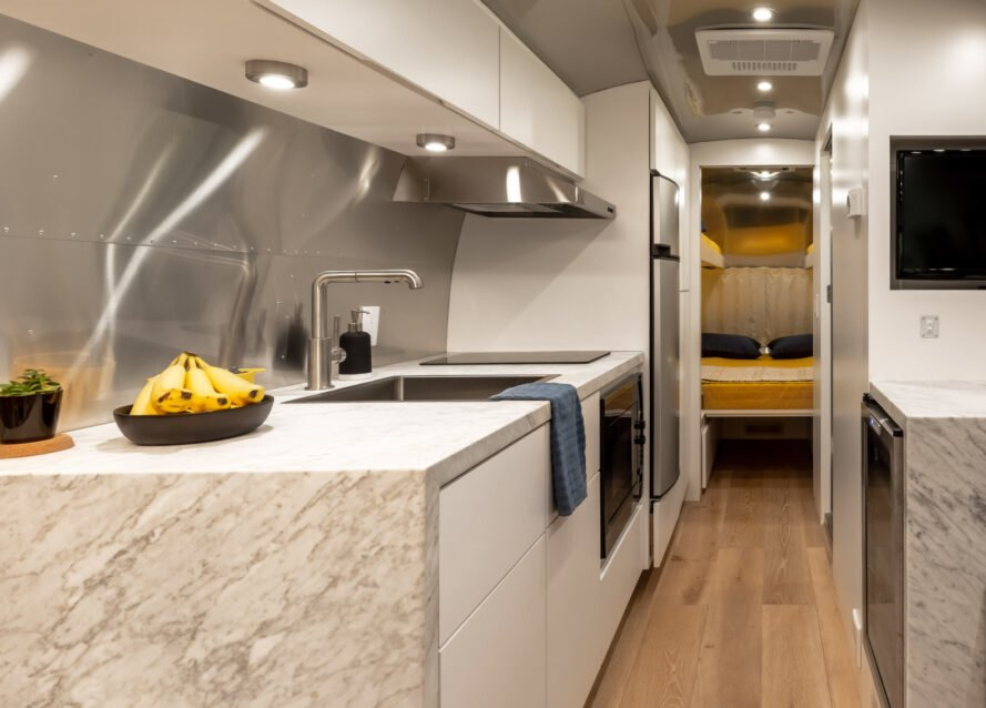 1972 Airstream becomes a bright tiny home for a family of four
