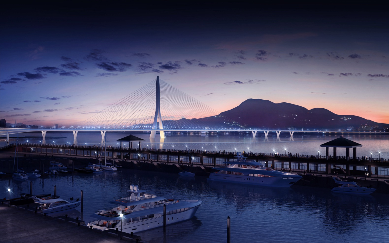 Zaha Hadid Architects breaks ground on an eco-sensitive multimodal bridge in Taiwan