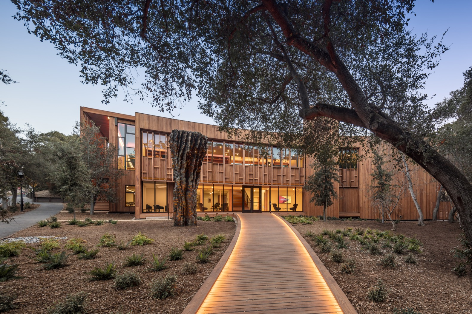 Stanford's sustainable scholars building embraces the California landscape