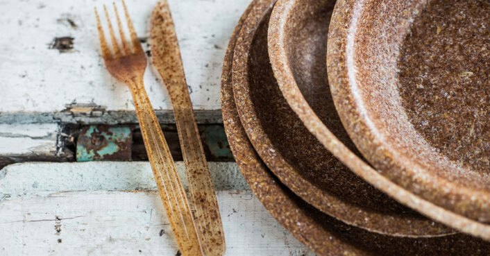 Biodegradable tableware made from wheat bran debuts at Toronto's Green Living Show