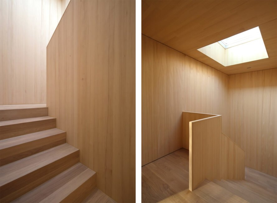 interior wooden staircase