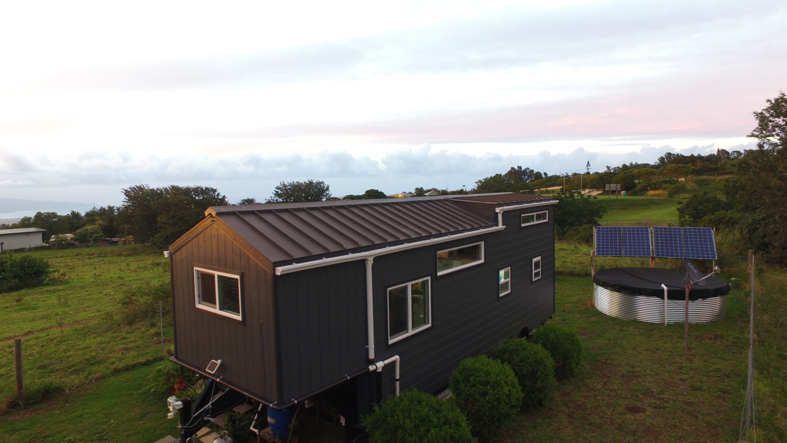 This tiny home allows a family of 3 to go off the grid in Maui