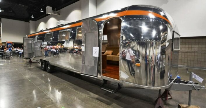 A rare 1962 Airstream is a marvelous home with a whimsical,