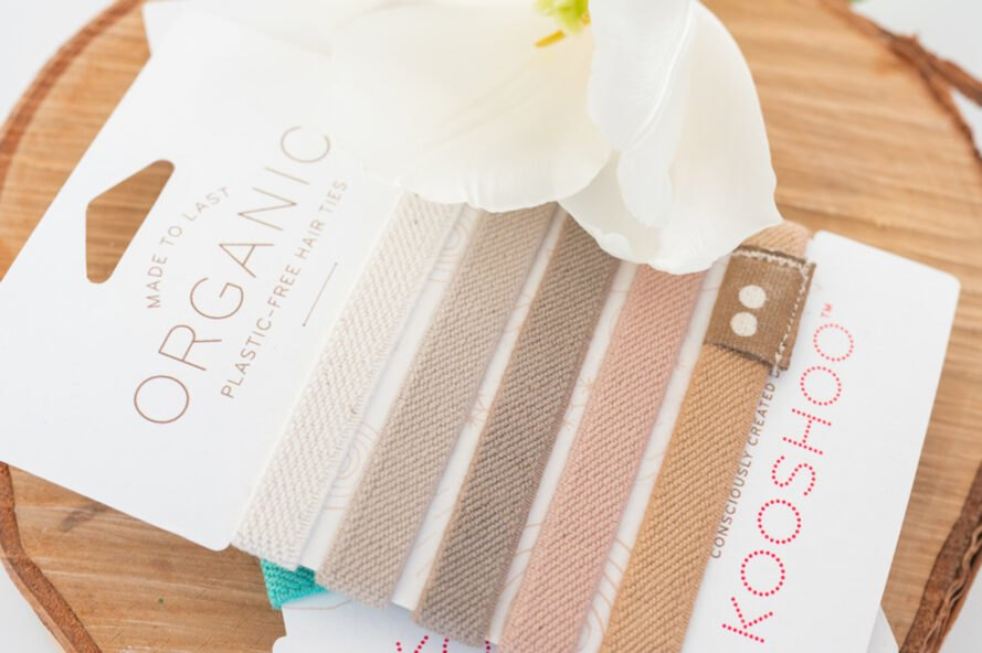 packs of tan, beige and blush hair ties