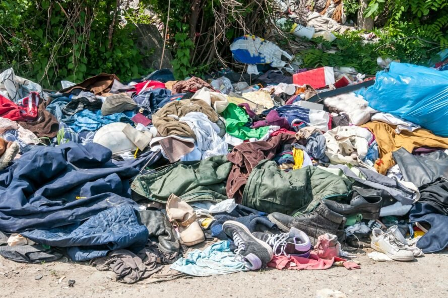 Pile of unwanted clothing
