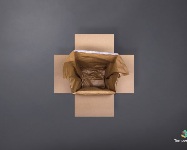 cardboard box with brown packaging