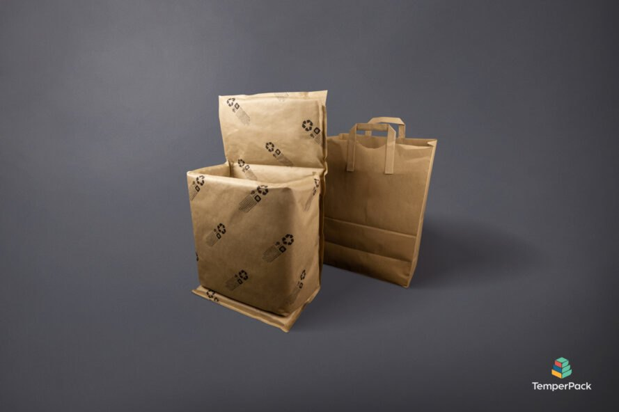 brown paper bag beside ClimaCell packaging