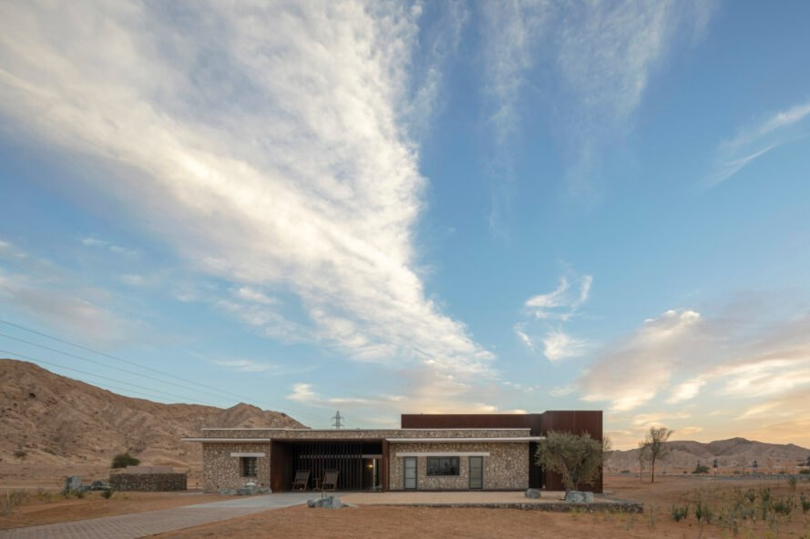 single-story building in the desert