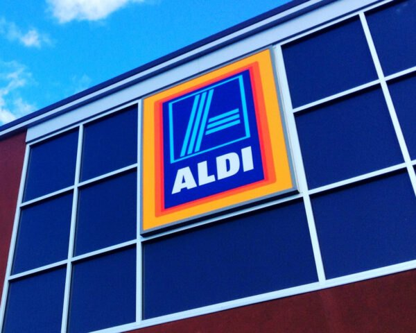 ALDI market logo sign