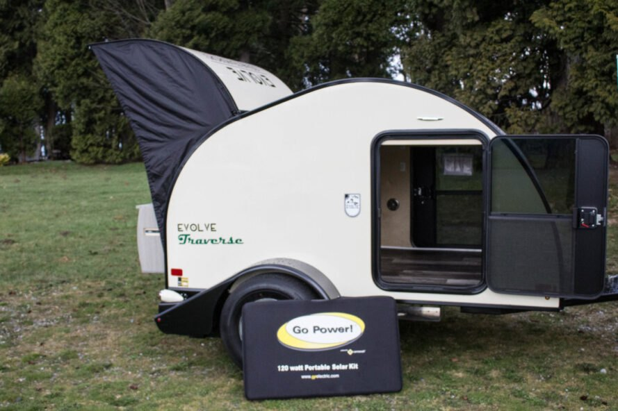 white teardrop camper