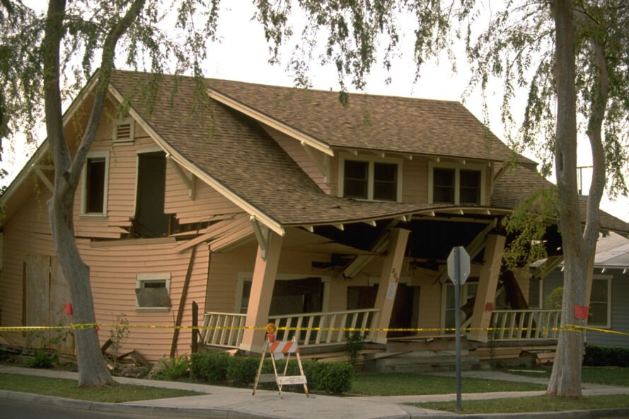 home destructed after natural disaster