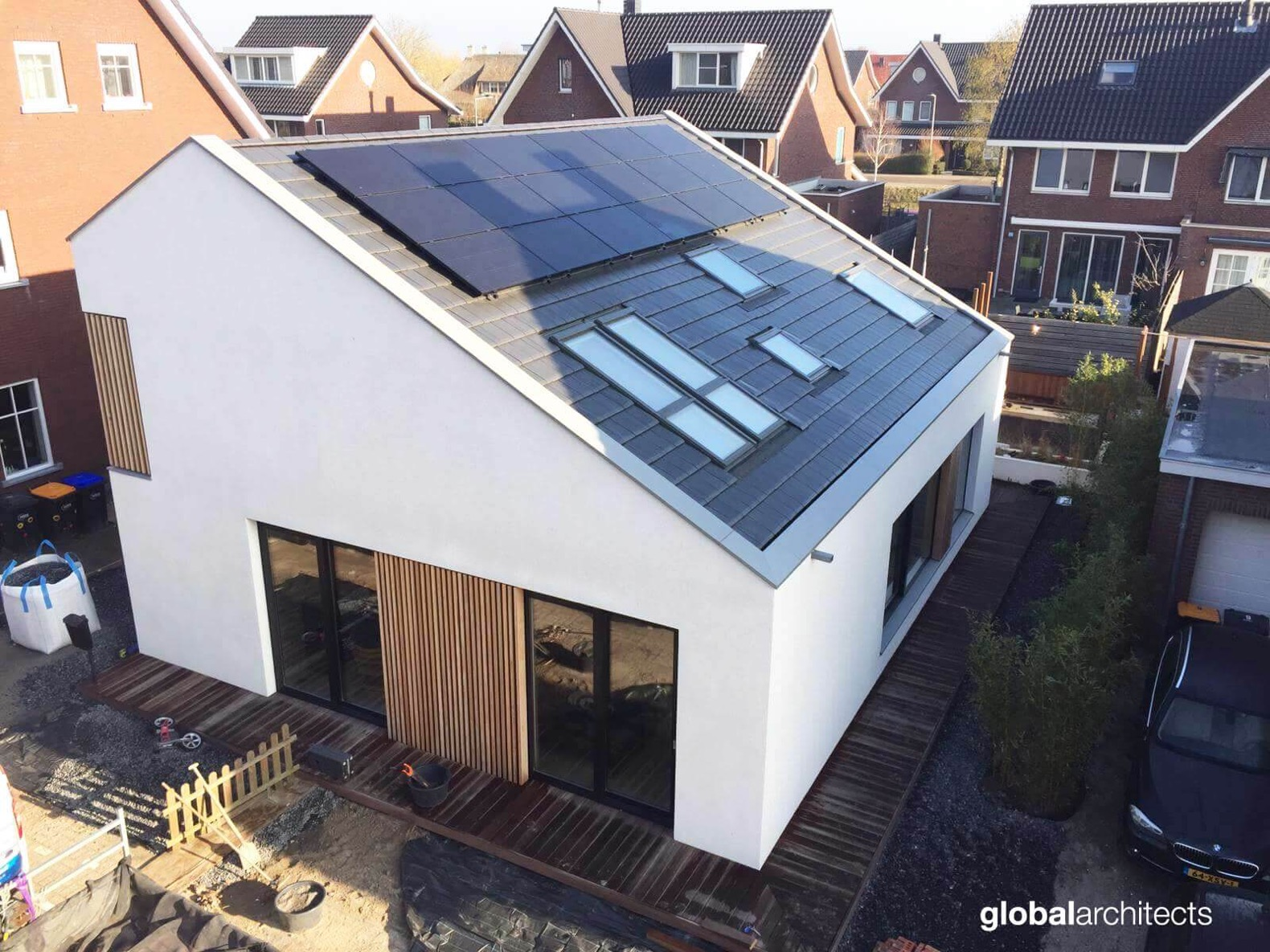 A Dutch village inspired the design of this solar-powered home