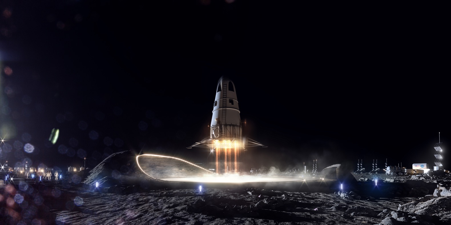 SOM unveils designs for first-ever human settlement on the moon