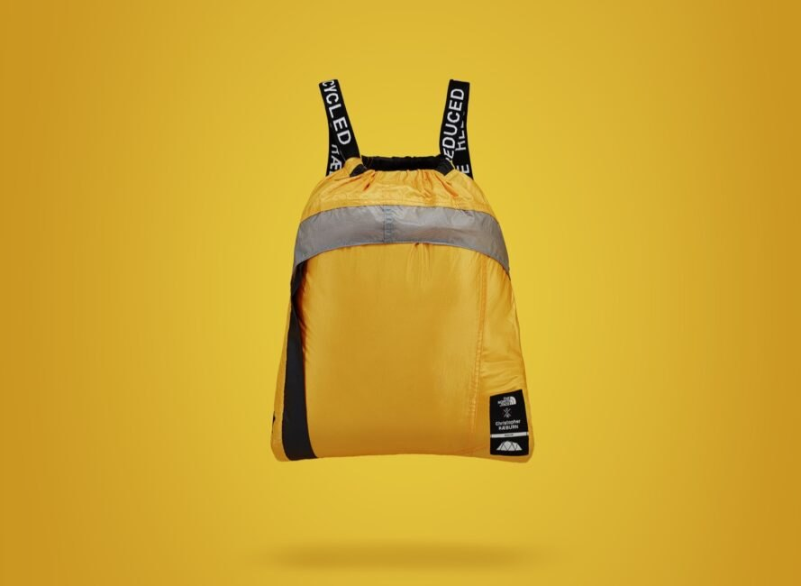 yellow backpack with black straps