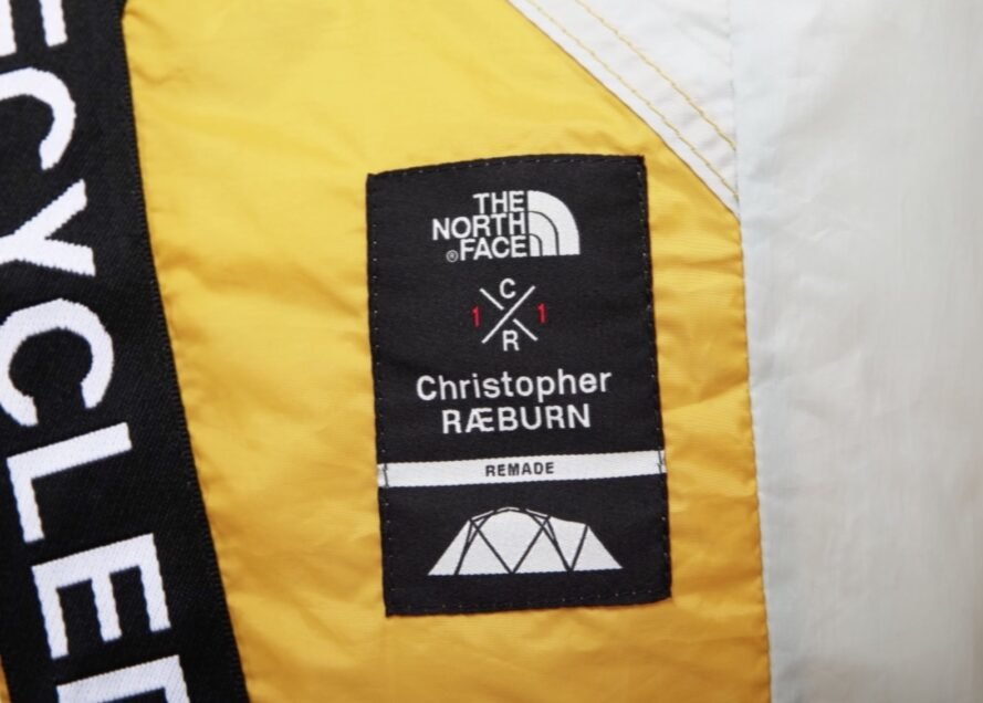 north face and Raeburn collaborator tag for collection