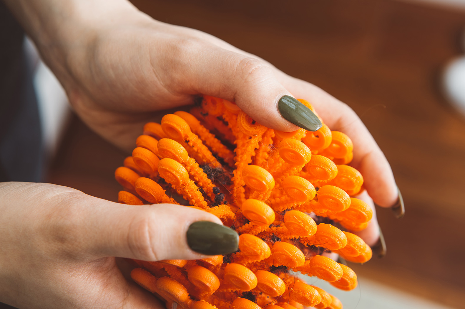 Cora Ball emulates natural filtering of coral to remove toxic microfibers from your washing machine