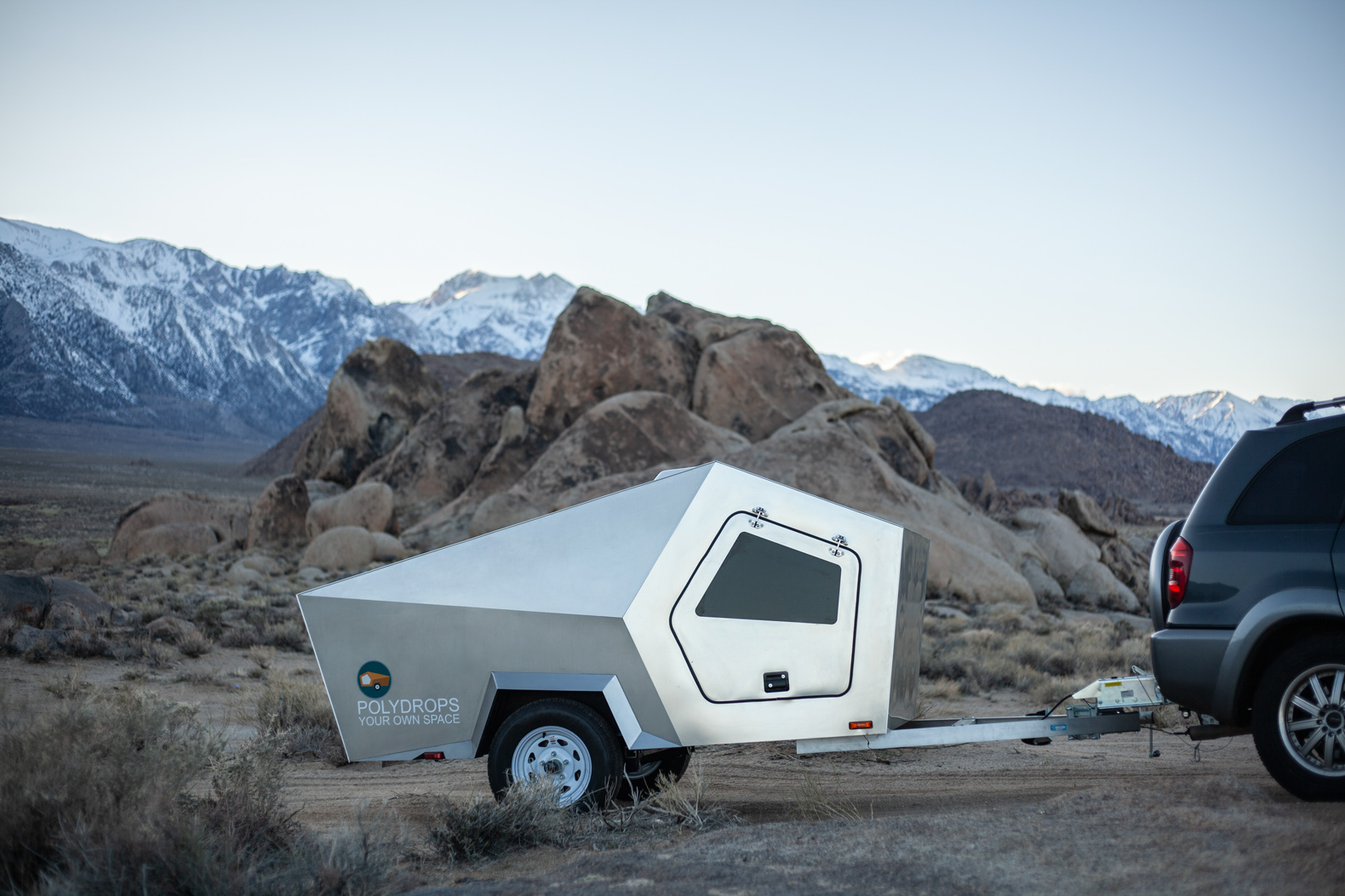 This futuristic, solar-powered travel trailer can be pulled by small cars