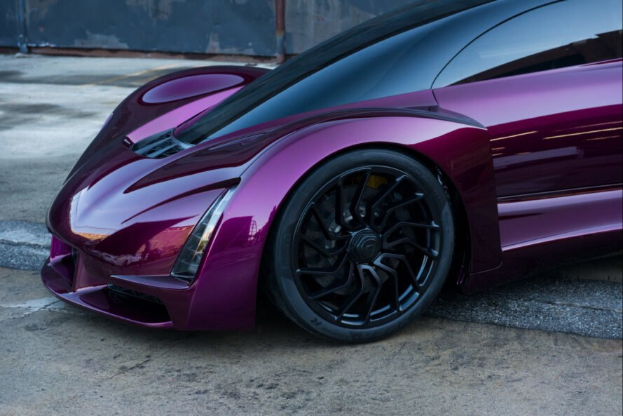 deep purple sports car